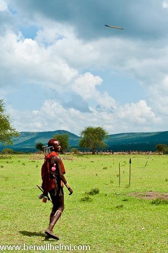 Ben Wilhelmi: Masai warriors throwing spears