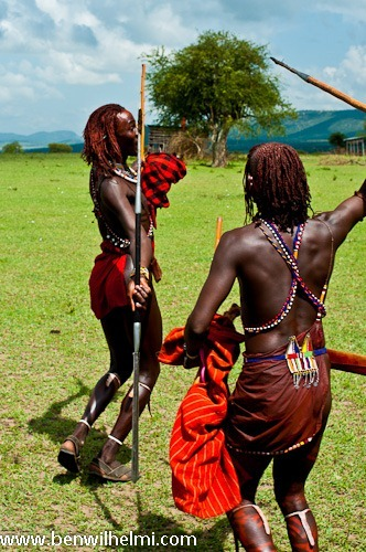Ben Wilhelmi: Masai warriors, Tanzania