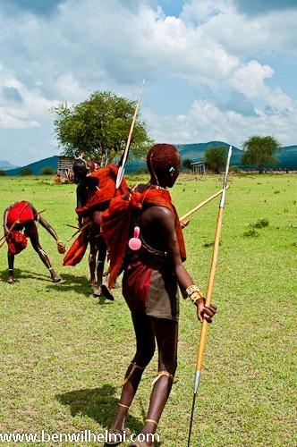 Ben Wilhelmi: Masai warriors playing and posing